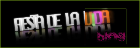 Fiesta de la Vida logo with an xray effect applied using javascript